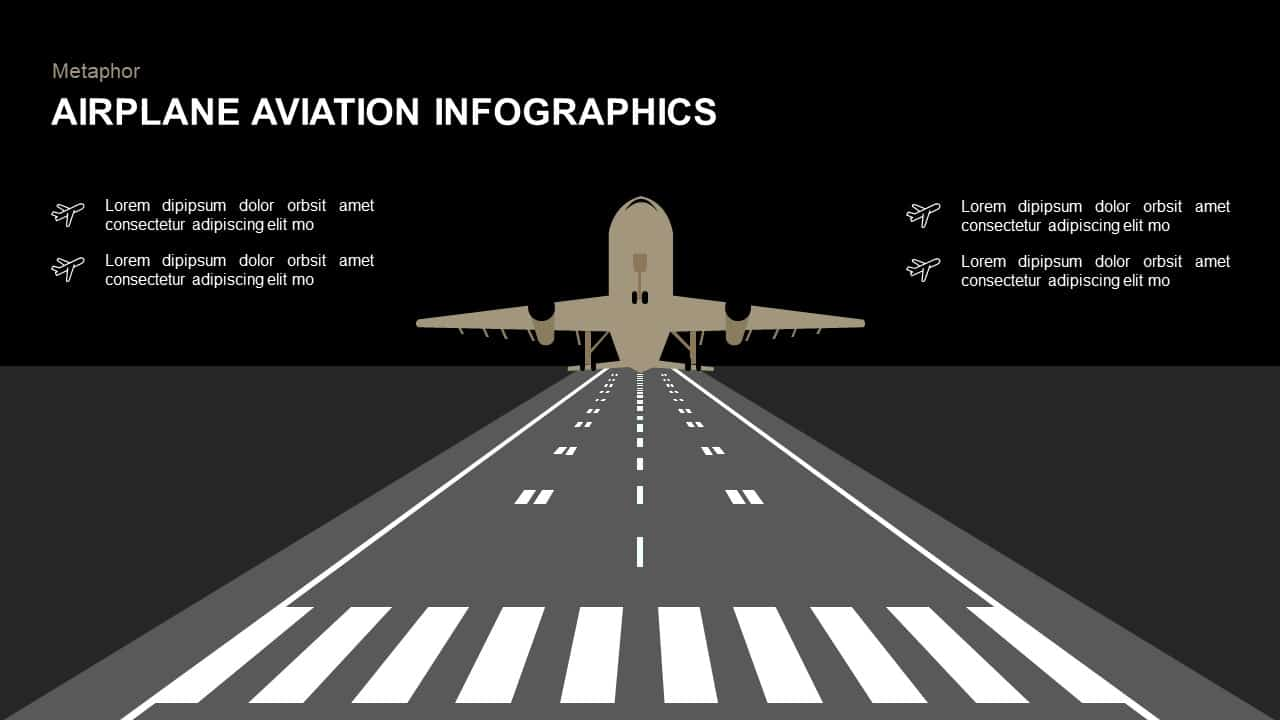 Airplane Infographics Aviation PowerPoint Template