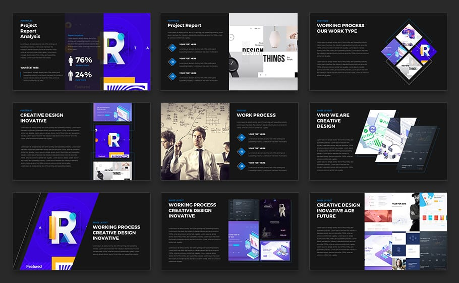 Inspire Multipurpose Pitch Deck Powerpoint Template Keynote