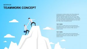 Teamwork Concept Metaphor Template for PowerPoint and Keynote