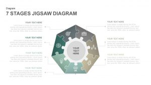 7 Stages Jigsaw Diagram Template PowerPoint and Keynote Slides