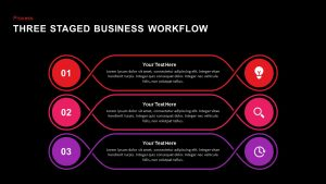 3 Staged Business Workflow PowerPoint Template and Keynote