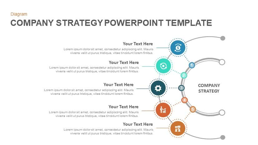 Company strategy powerpoint template and keynote