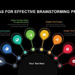 List of ideas for effective brainstorming process powerpoint template and keynote slide