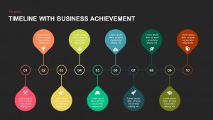 Timeline with Business Achievement PowerPoint Template and Keynote Slide