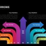 9 section arrows template for powerpoint and keynote
