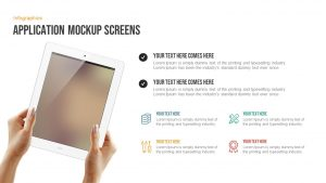 Application Mockup Screens Free PowerPoint Template