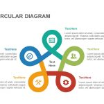 5 stage circular diagram powerpoint template and keynote