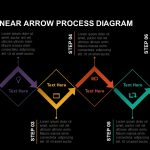 6 staged linear arrow process diagram powerpoint template and keynote slide