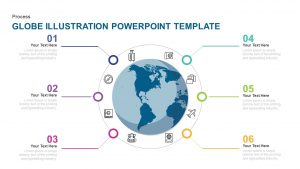 Globe Illustration PowerPoint Template and Keynote Slide
