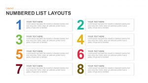 Numbered List Layout Template for PowerPoint and Keynote