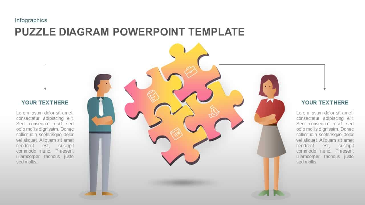 Puzzle PowerPoint template diagram