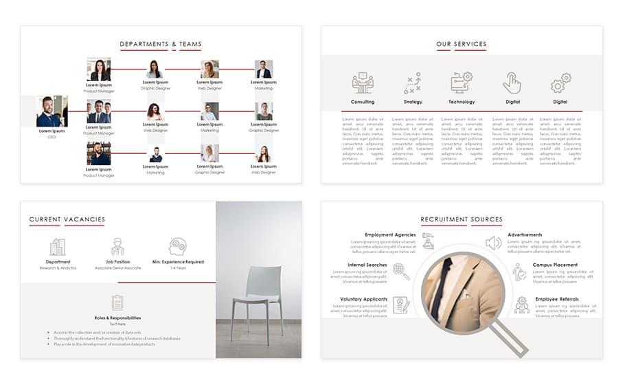 Recruiting process powerpoint presentation template