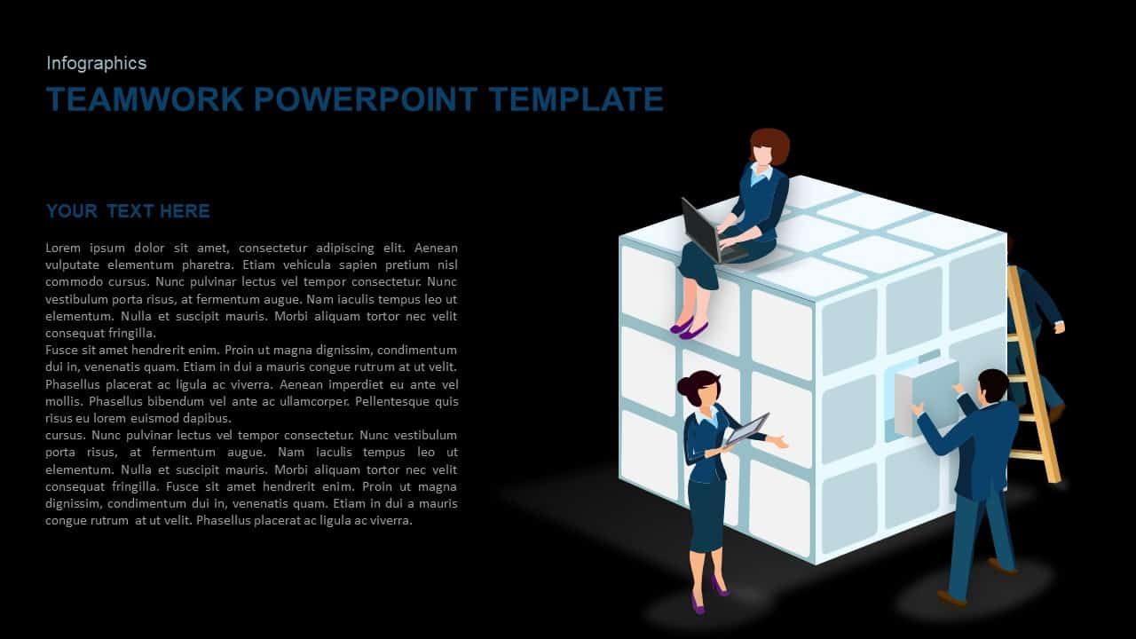 teamwork template for Powerpoint and keynote