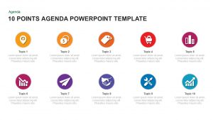 10 and 15 Point Agenda Slide PowerPoint Template and Keynote
