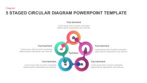 5 Staged Circular Diagram PowerPoint Template and Keynote Slide