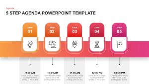 5 Step Agenda PowerPoint Template and Keynote Slide