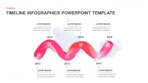 Six Stages Infographics Timeline PowerPoint Template and Keynote Slide