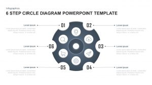 6 Steps Circle Diagram PowerPoint Template and Keynote Slide