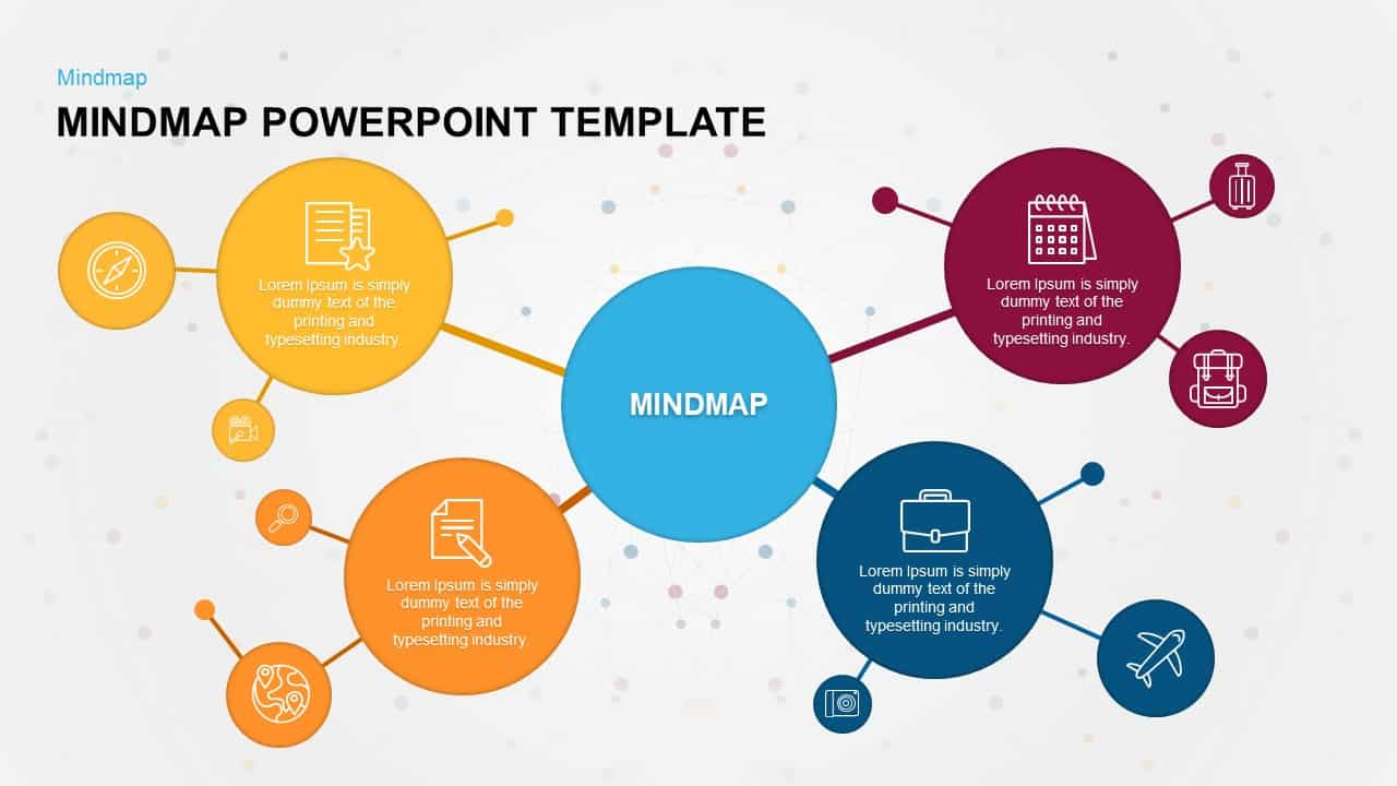Mind Map PowerPoint Template and Keynote