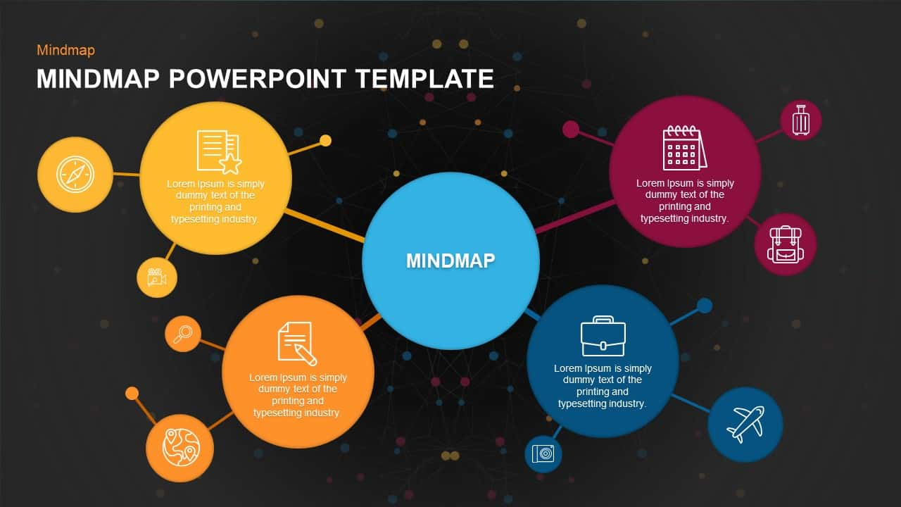 Mind Map PowerPoint Template and Keynote Slide