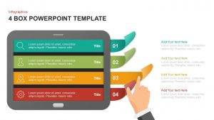 4 Box PowerPoint Template & Keynote Diagram