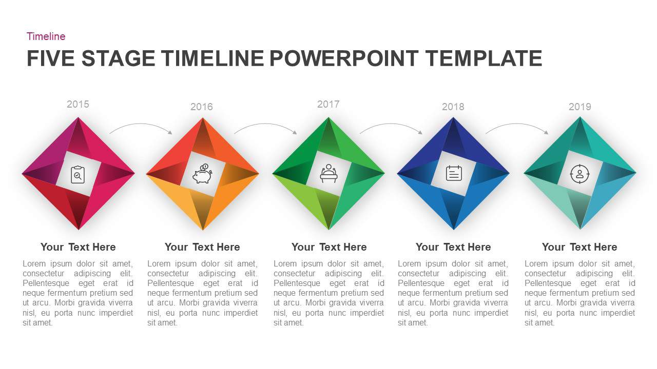 5 Step Timeline PowerPoint Template
