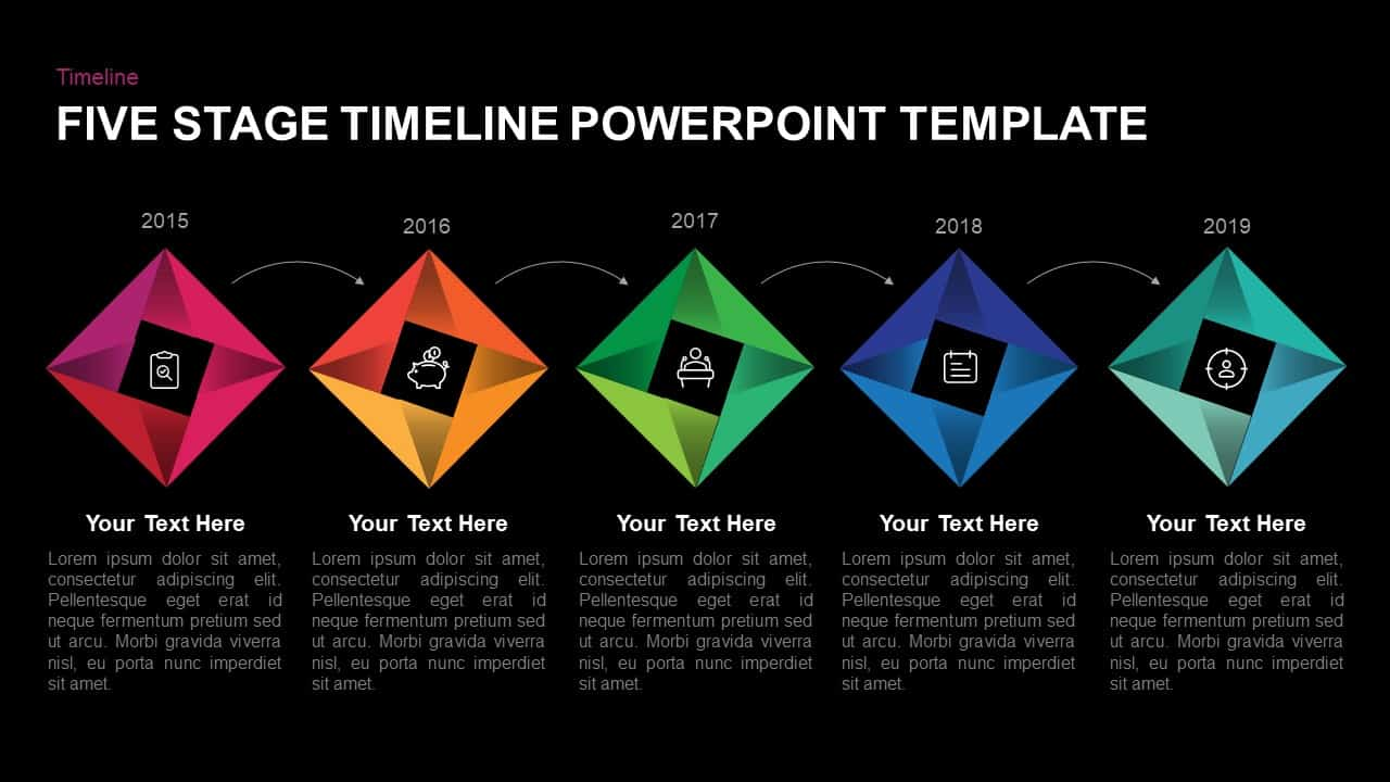 5 Step Timeline Template for PowerPoint and Keynote