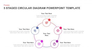 5 Step Creative Circular Diagram Design for PowerPoint and Keynote