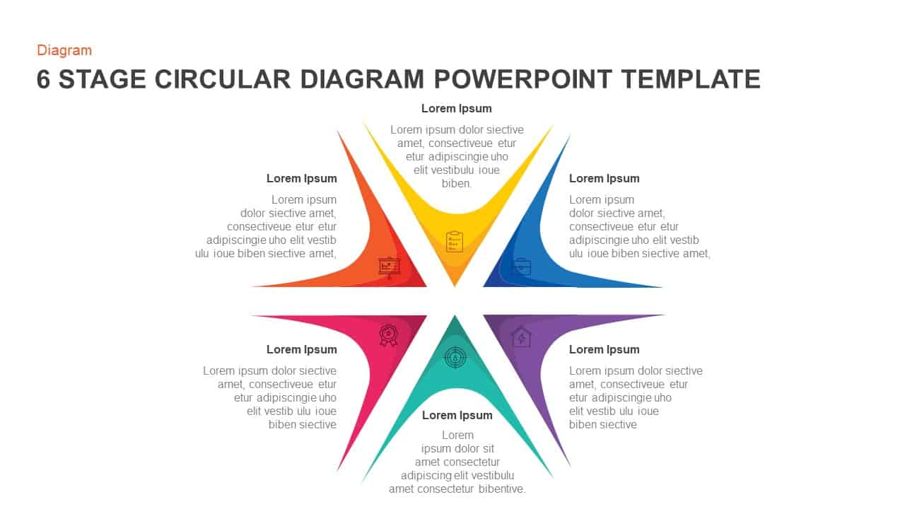 6 Step Circular Diagram For Powerpoint And Keynote