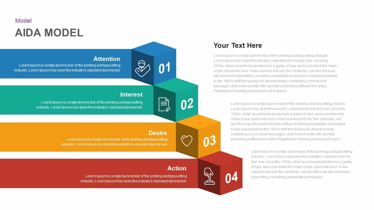 AIDA Template for PowerPoint and Keynote