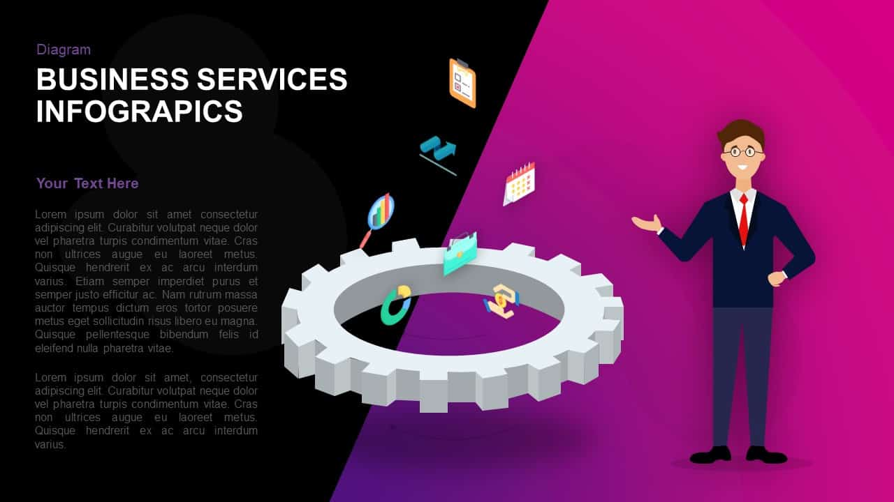 Business Services Infographics Template for PowerPoint