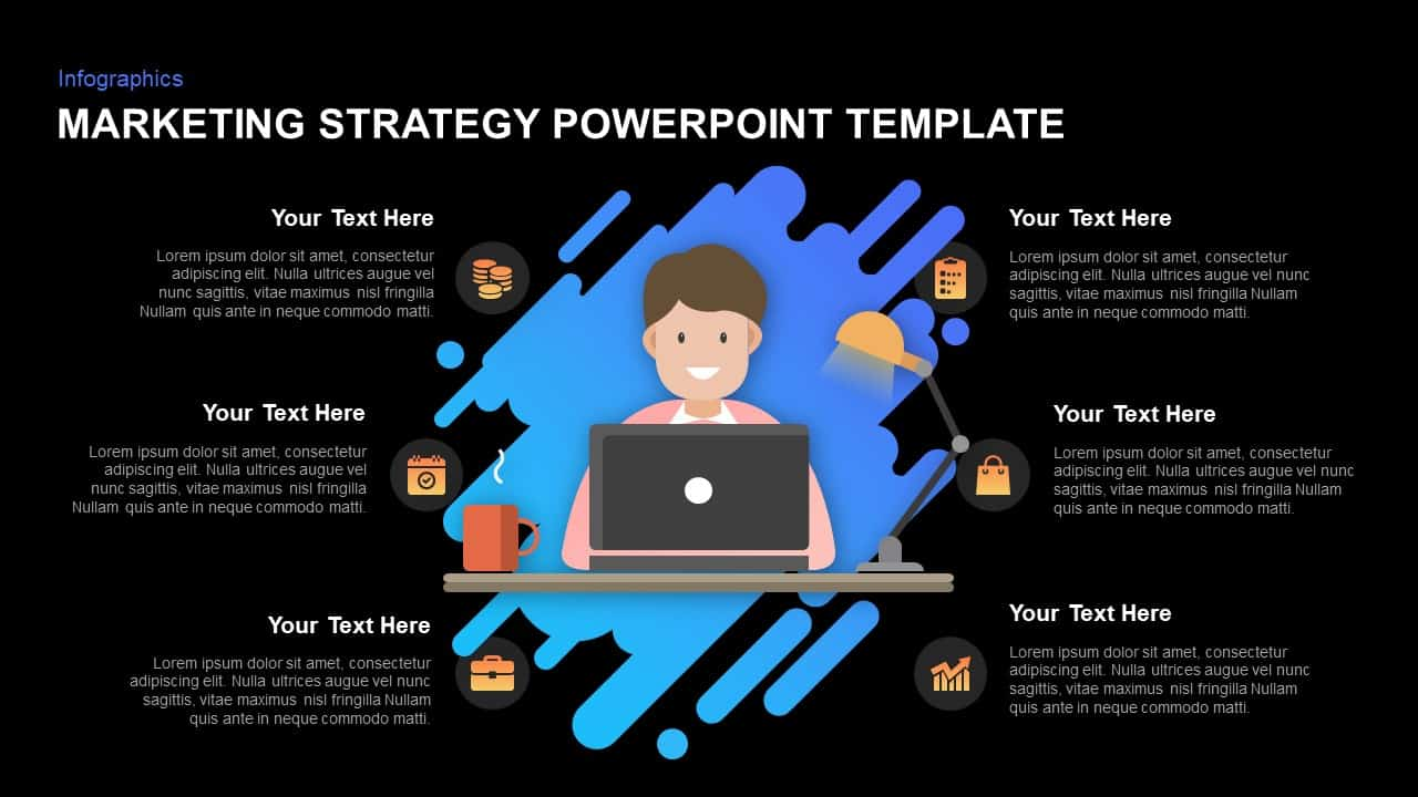 Marketing strategy template for PowerPoint and Keynote