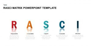 RASCI Matrix PowerPoint Template & Keynote Diagram