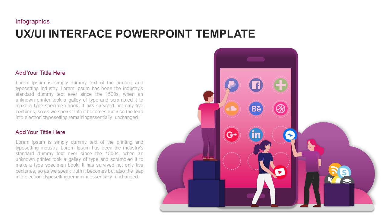 User interface (UI) PowerPoint template and Keynote