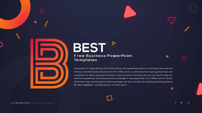 Best Free Business Powerpoint Templates Business Ppt