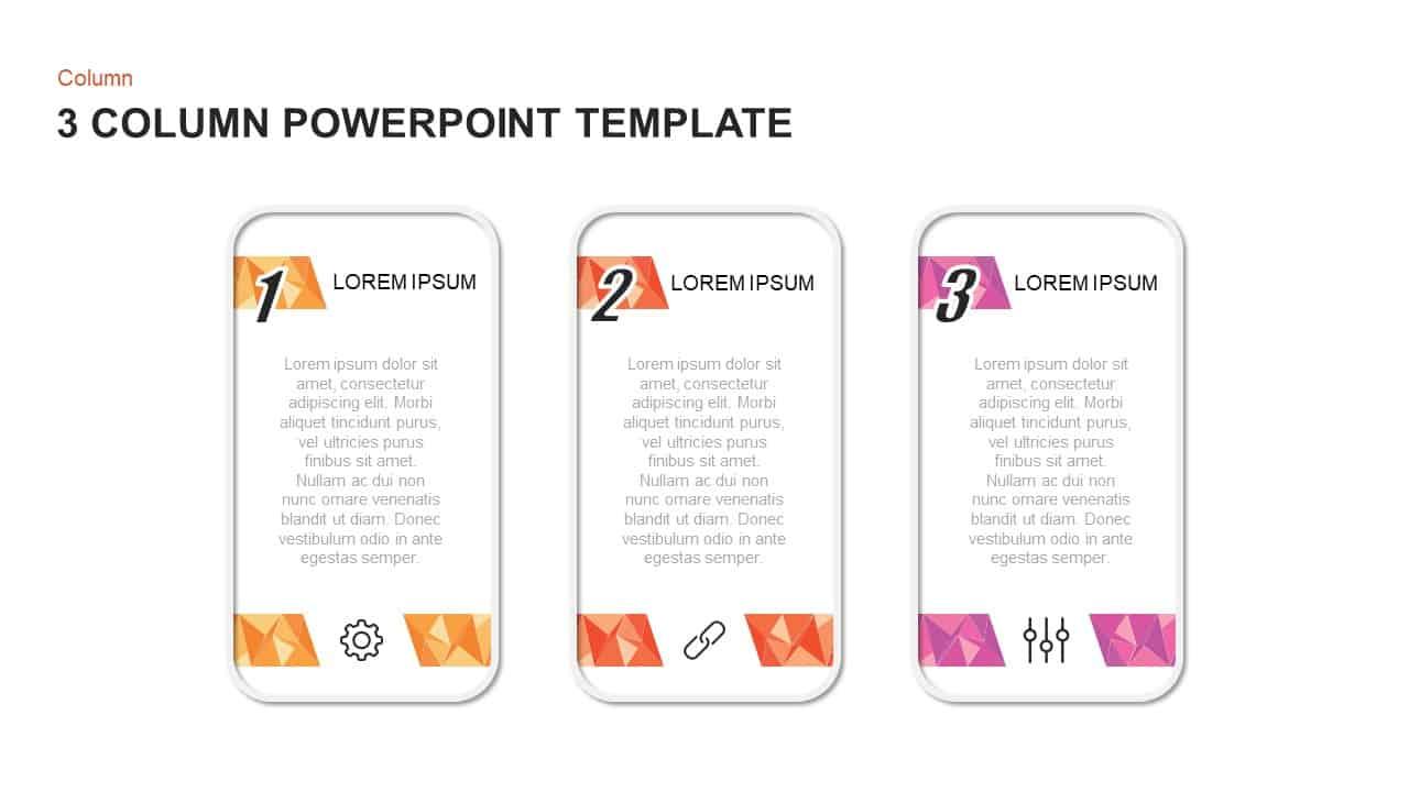 3 Column PowerPoint Template