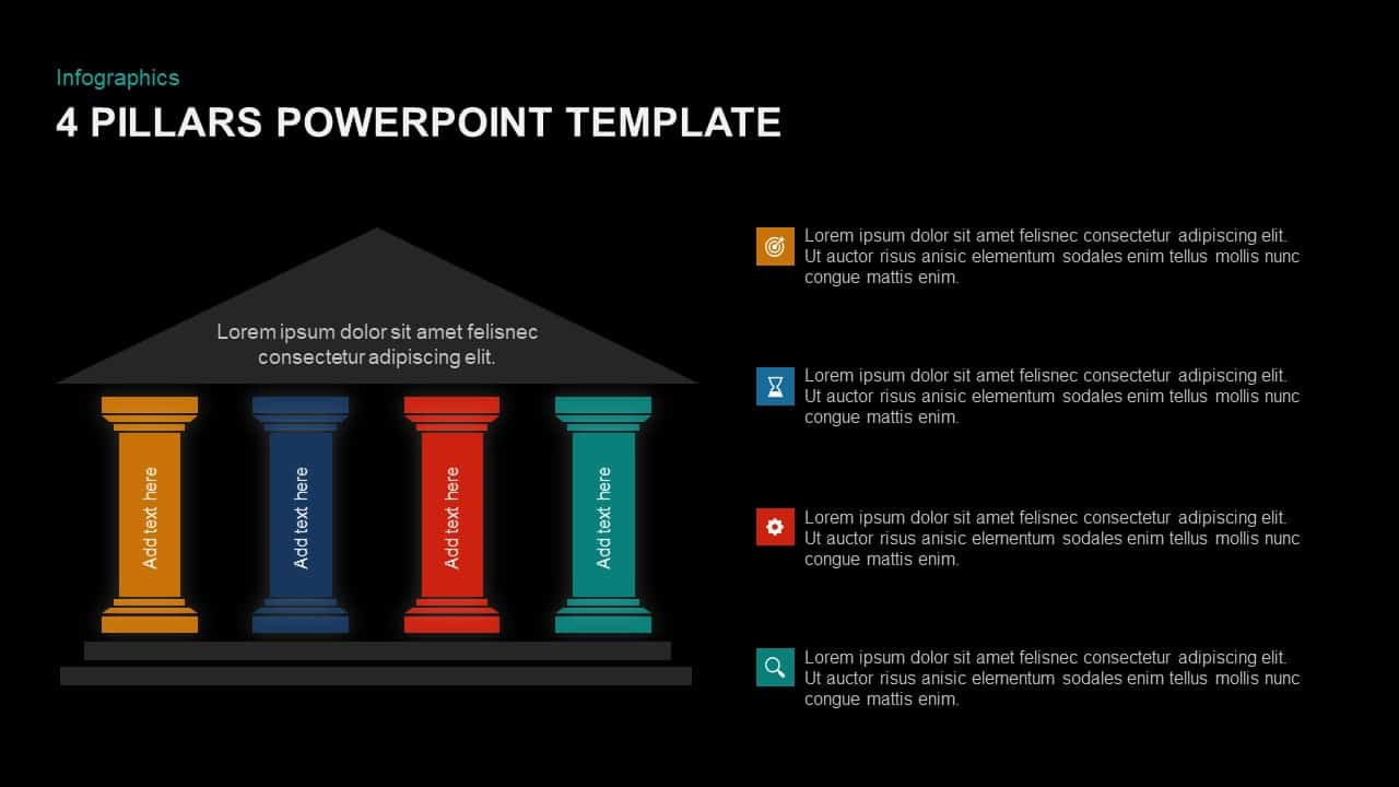 4 Pillars Template for PowerPoint