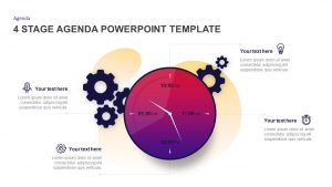 4 Stage Agenda PowerPoint Template & Keynote Diagram
