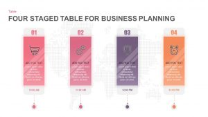 4 Steps Business Plan Table Template for PowerPoint & Keynote