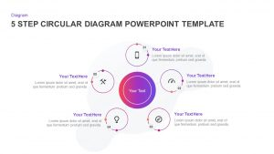 5 Step Creative Circular Diagram Design for PowerPoint & Keynote
