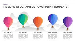 5 Year Timeline Balloon PowerPoint Template and Keynote Diagram