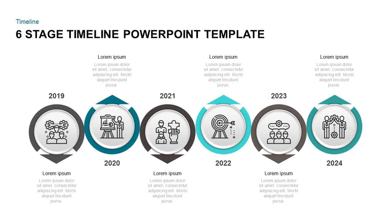 6 Step Timeline PowerPoint Template