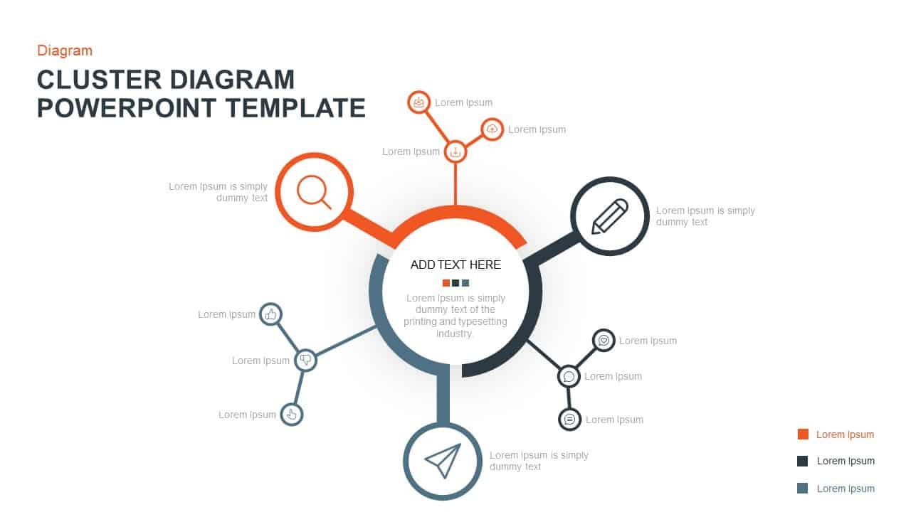 Cluster Diagram Template For Powerpoint  U0026 Keynote