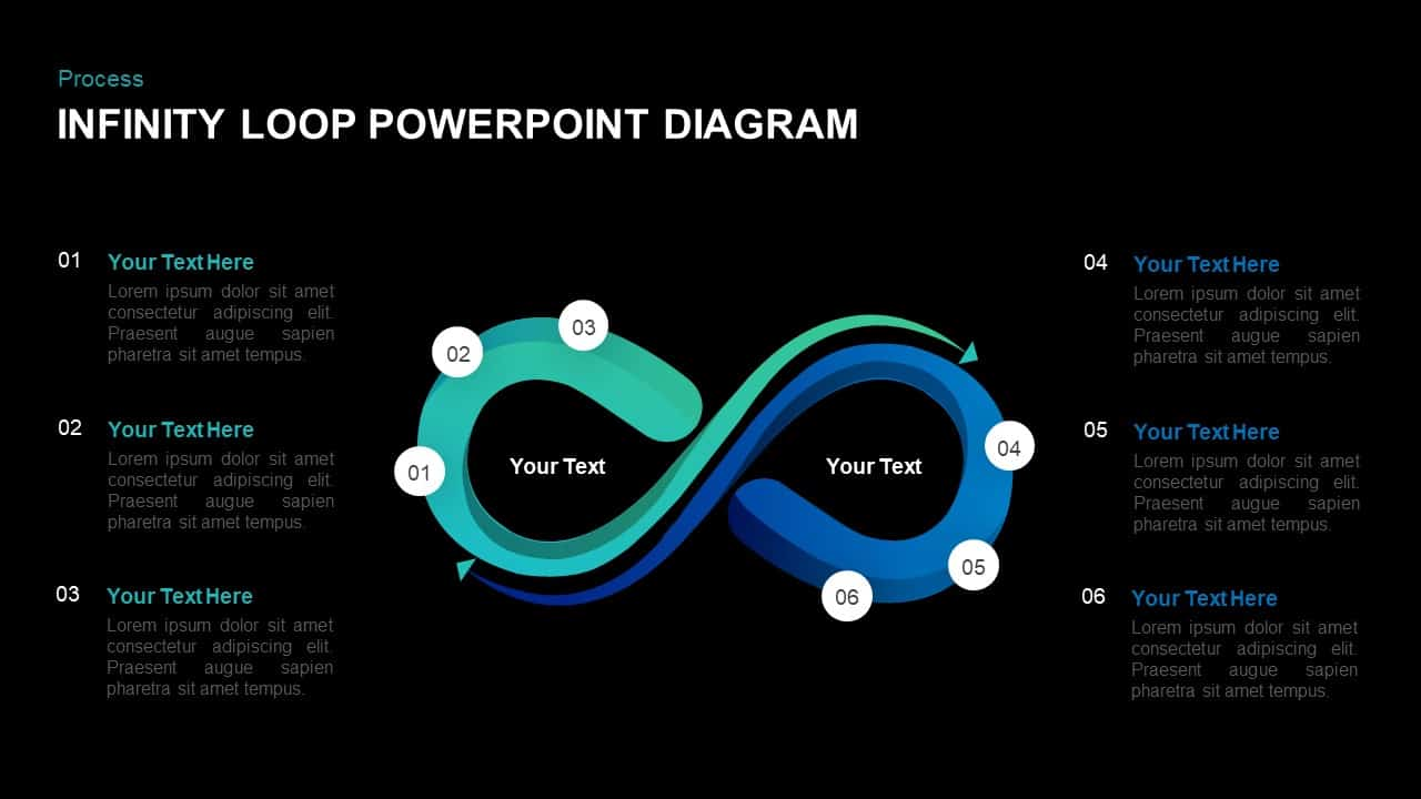 Infinity Loop Diagram for PowerPoint