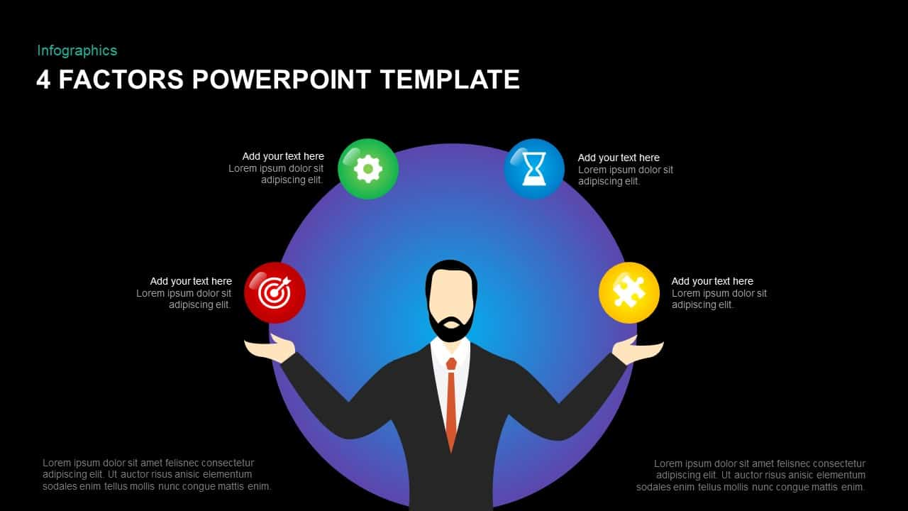 4 Factors Template for PowerPoint
