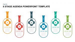 6 Stage Agenda PowerPoint Template & Keynote