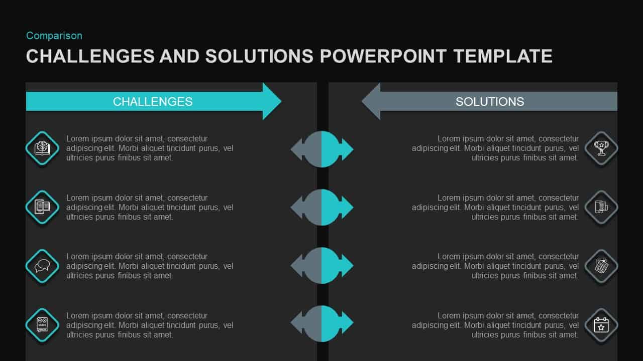 Challenges and Solutions Template for PowerPoint