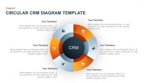 Circular CRM Diagram for PowerPoint & Keynote