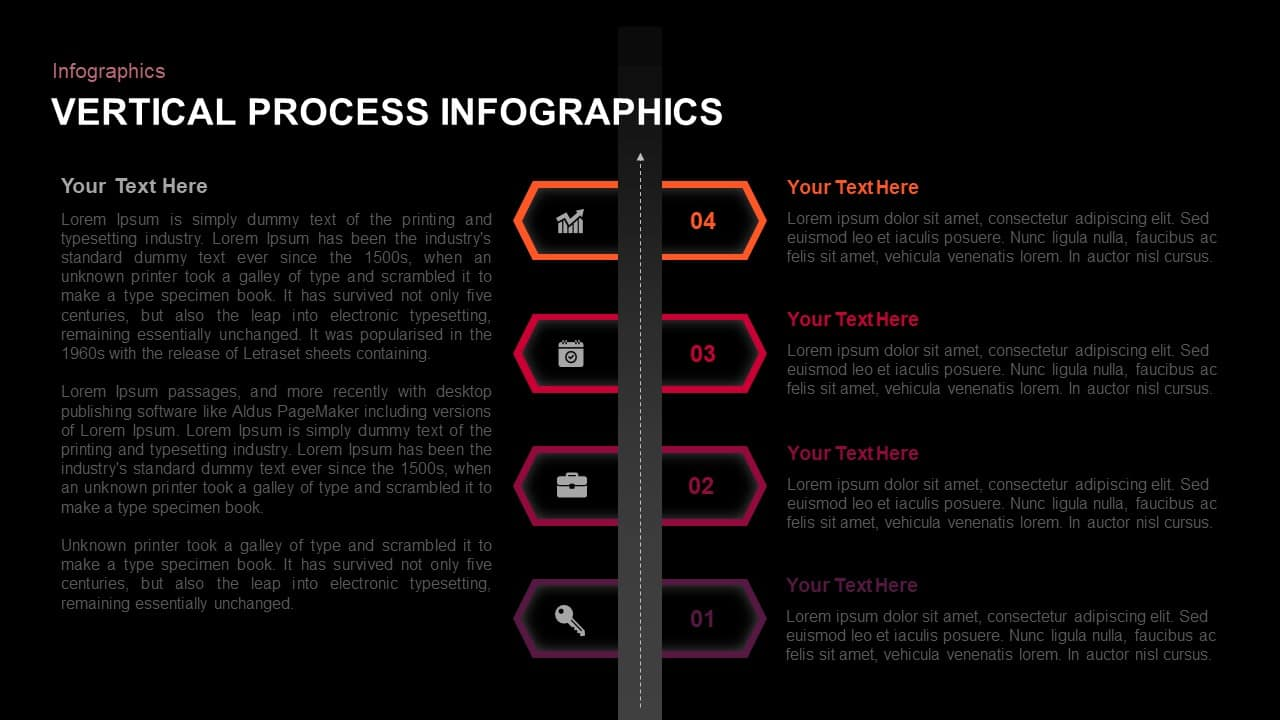 4 Step Vertical Process PowerPoint Template