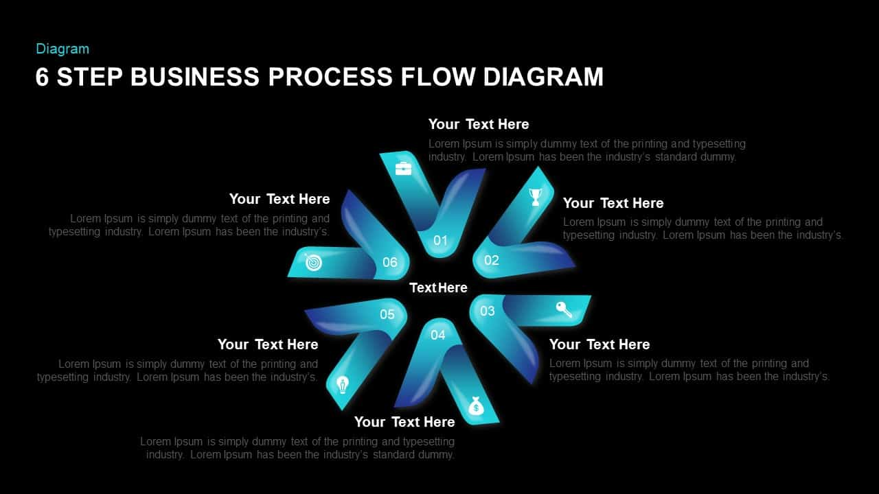 usiness Process Flow Diagram PowerPoint Template